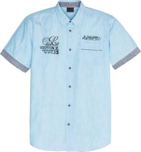 Niebieska koszula bonprix bpc selection z krótkim rękawem