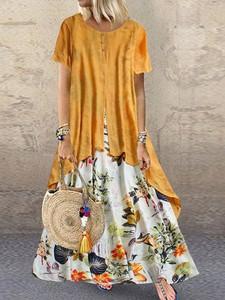 Sukienka Elegrina z krótkim rękawem