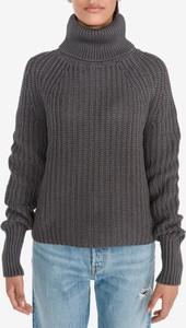 Brązowy sweter Replay z bawełny