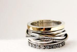 Niepowtarzalna obrączka ze złota i srebra - Astorga