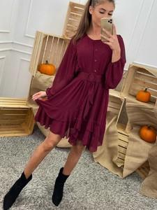 Czerwona sukienka Promese w stylu casual