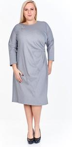 Sukienka Fokus midi z długim rękawem w stylu casual