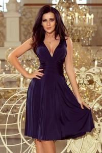 Niebieska sukienka NUMOCO rozkloszowana midi