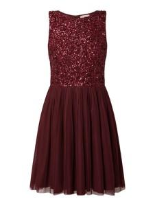 Czerwona sukienka Lace & Beads