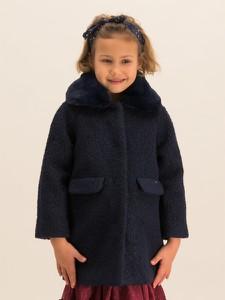 Granatowy płaszcz dziecięcy Mayoral dla dziewczynek
