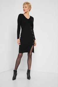 Czarna sukienka ORSAY mini z długim rękawem w stylu casual
