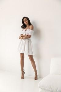 Sukienka Lorenzo z lnu mini hiszpanka