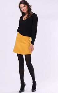 Żółta spódnica Nommo z wełny mini