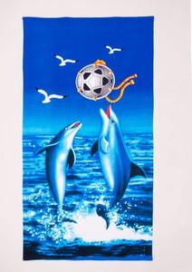 Yoclub Ręcznik plażowy prostokątny delfiny