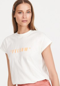 T-shirt Reserved z okrągłym dekoltem z krótkim rękawem w stylu casual