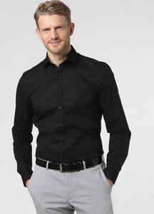 Czarna koszula Finshley & Harding z długim rękawem