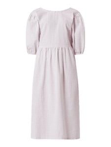 Sukienka Review z okrągłym dekoltem z bawełny z długim rękawem