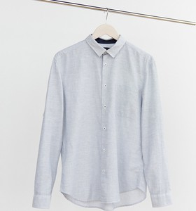 Koszula Reserved z bawełny z klasycznym kołnierzykiem z długim rękawem