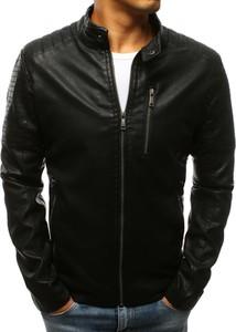 Czarna kurtka Dstreet ze skóry w rockowym stylu