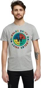 T-shirt Wrangler z krótkim rękawem z bawełny w młodzieżowym stylu