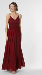 Sukienka Marie Lund z szyfonu na ramiączkach z dekoltem w kształcie litery v