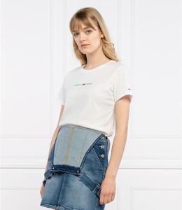 Bluzka Tommy Jeans w stylu casual z krótkim rękawem