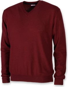Czerwony sweter Willsoor z bawełny w stylu casual