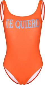 Pomarańczowy strój kąpielowy Alberta Ferretti