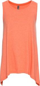 Pomarańczowy t-shirt bonprix RAINBOW w street stylu bez rękawów