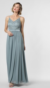 Sukienka Marie Lund rozkloszowana na ramiączkach z dekoltem w kształcie litery v