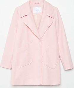 Różowy płaszcz Cropp