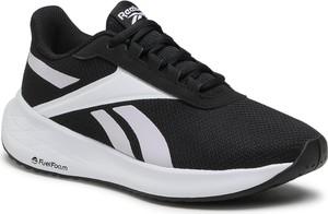 Czarne buty sportowe Reebok z płaską podeszwą ze skóry ekologicznej