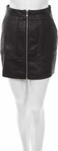 Czarna spódnica Leger By Lena Gercke mini w stylu casual ze skóry