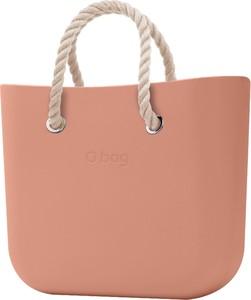 Torebka O Bag matowa duża w wakacyjnym stylu
