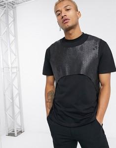 Czarny t-shirt Asos Design z krótkim rękawem