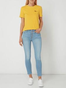 Żółta bluzka Only w stylu casual z okrągłym dekoltem