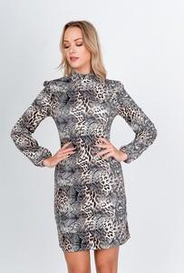 Sukienka ZOiO.pl prosta z długim rękawem mini