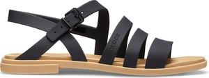 Czarne sandały Crocs w stylu casual z klamrami