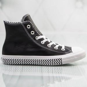 Czarne trampki Converse sznurowane wysokie w geometryczne wzory