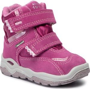 Różowe buty dziecięce zimowe Primigi na rzepy