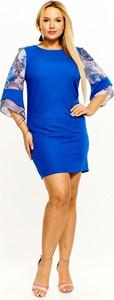 Sukienka M&sz z nadrukiem z długim rękawem mini