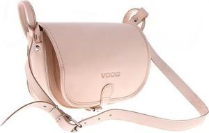 Różowa torebka VOOC przez ramię ze skóry w stylu casual