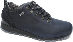 1e5bc2be Niebieskie buty zimowe NIK sznurowane w sportowym stylu ze skóry