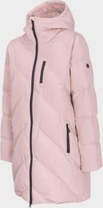 Różowy płaszcz Outhorn w stylu casual