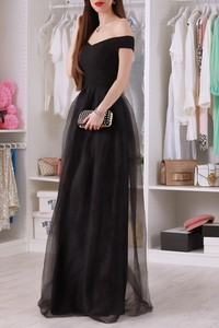 Czarna sukienka IVET maxi