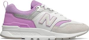 Buty sportowe New Balance w młodzieżowym stylu z zamszu z płaską podeszwą