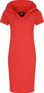 Sukienka Emporio Armani midi w stylu casual