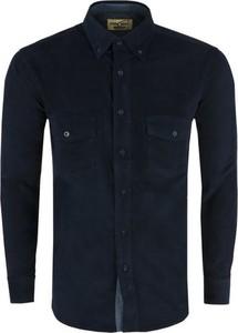 Niebieska koszula Formax z bawełny z długim rękawem