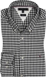 Czarna koszula Tommy Hilfiger z kołnierzykiem button down z bawełny