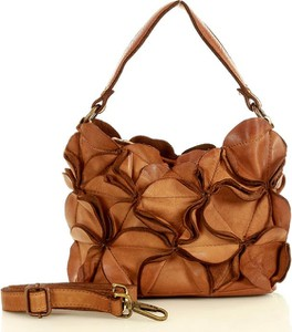 Brązowa torebka Marco Mazzini Handmade na ramię ze skóry