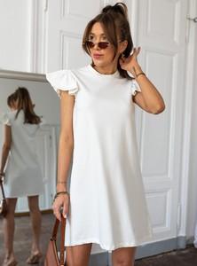 Sukienka SELFIEROOM z okrągłym dekoltem w stylu casual z krótkim rękawem