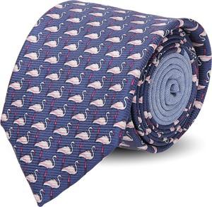 Niebieski krawat recman w abstrakcyjne wzory