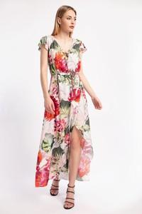 Sukienka Cotton Club z krótkim rękawem maxi