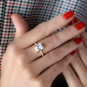coccola.pl Złoty pierścionek ROYAL PRINCESS z cyrkoniami - srebro 925 pozłacane 14 (17mm)