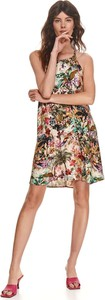 Sukienka Top Secret bez rękawów mini z dekoltem halter